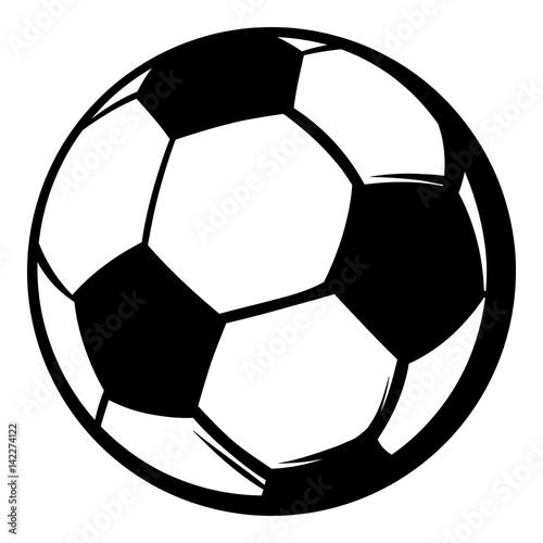 In de dag Bol Soccer ball icon, icon cartoon