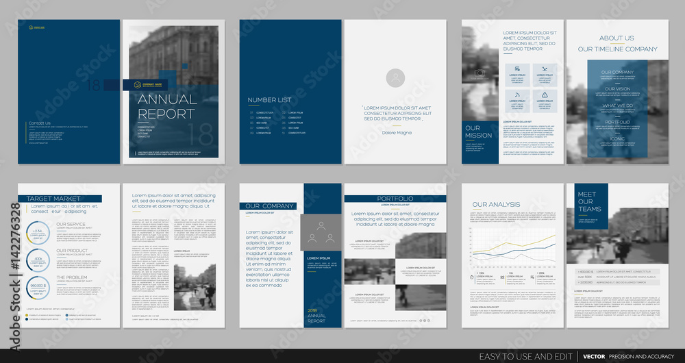 Fototapety, obrazy: Design annual report,vector template brochures