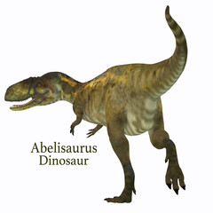 Abelisaurus Dinosaur Tail with Font - Abelisaurus was a carnivorous theropod dinosaur that lived in Argentina in the Cretaceous Period.