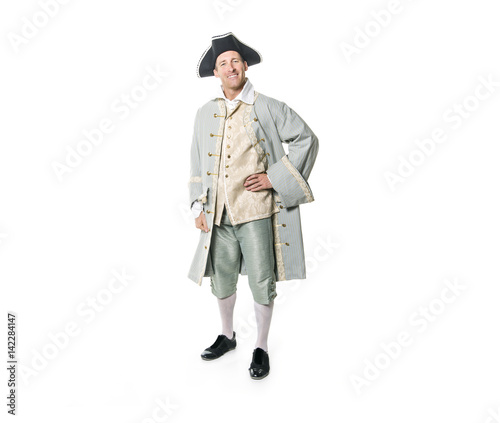 Cuadros en Lienzo man dressed as a courtier or prince on white background