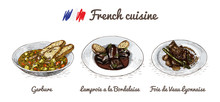 French Menu Colorful Illustrat...
