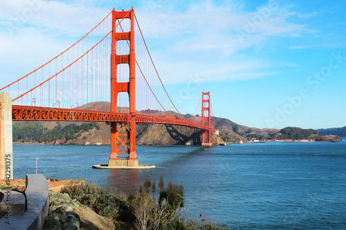 Keuken foto achterwand San Francisco Golden Gate Bridge in San Francisco USA on a bright sunny day