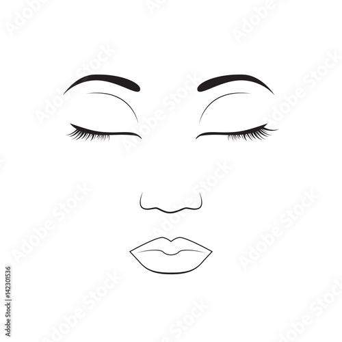 Girl Emotion Face Sleep Cartoon Vector Illustration And Woman Emoji