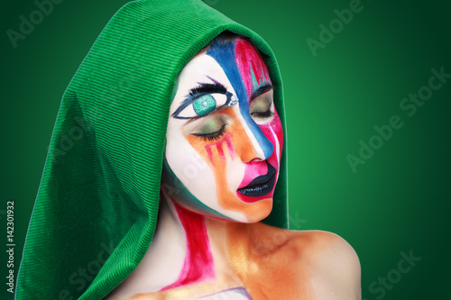 Fotografía  Creative make-up new conceptual idea