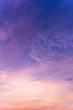 Leinwandbild Motiv Colorful dramatic sky with cloud at sunset.Sky with sun background.