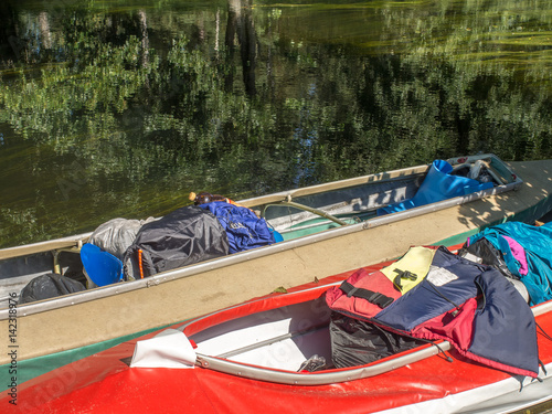 Folding kayaks - Buy this stock photo and explore similar images at