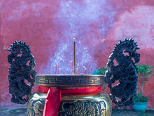 Incense Sticks In The Pot