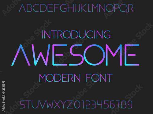 Font  Typeface  Modern typography alphabet  Futuristic