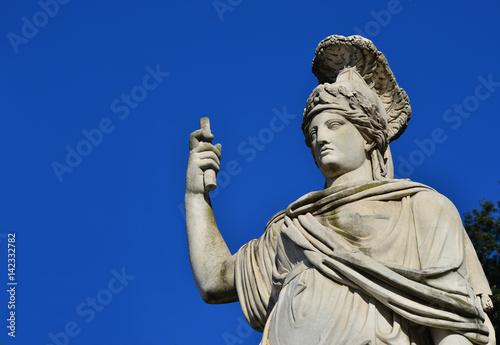 Fotografia Minerva as Dea Roma neoclassical statue (with copy space)