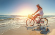 canvas print picture - frau freut sich über sommer