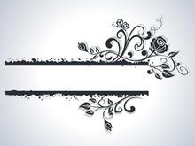Black And White Rose Frame Vector Background.