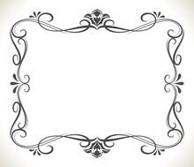Black And White Floral Frame W...