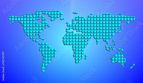Abstract world map from 3d squares vector illustration buy this abstract world map from 3d squares vector illustration gumiabroncs Image collections