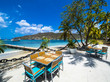 canvas print picture - Blick auf die Bucht vor Port Elisabeth, , Port Elisabeth, Bequia, Inseln über dem Winde, , Kleine Antillen, , Grenadinen,  St. Vincent und die Grenadinen, Mittelamerika, Karibik