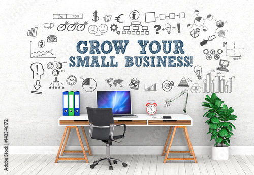 Valokuvatapetti Grow your small business ! / Office / Wall / Symbol