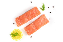 Photo Of Slices Of Salmon On W...