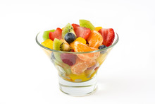 Fruit Salad In Crystal Bowl Is...