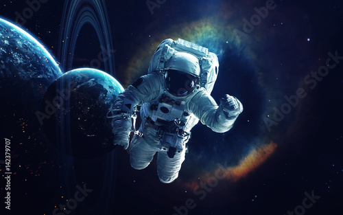 Foto op Aluminium Heelal Cosmic art, science fiction wallpaper. Beauty of deep space. Billions of galaxies in the universe. Elements of this image furnished by NASA