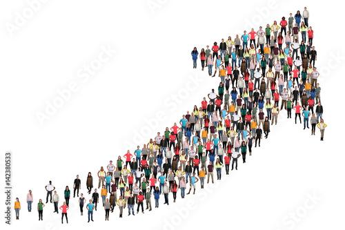 Fotografie, Obraz  Menschen Gruppe Leute Menschengruppe Erfolg Wirtschaft Wachstum erfolgreich Stra