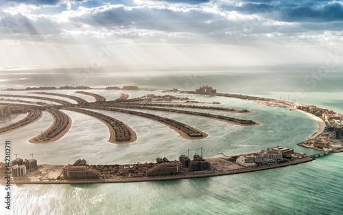 Recess Fitting Dubai Aerial view of Dubai Palm Jumeirah Island, UAE
