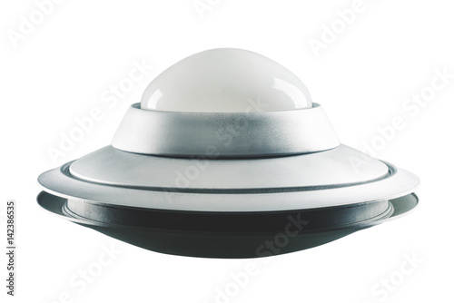 Poster UFO Classic, Retro UFO isolated on white