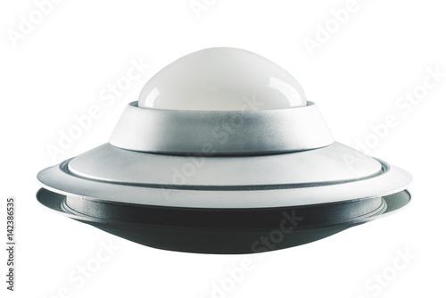 Fototapeta Klasyczny, Retro UFO odizolowywający na bielu