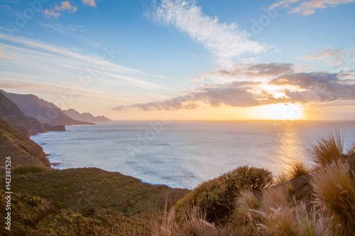 Tuinposter Canarische Eilanden Sunset on the west coast, Gran Canaria