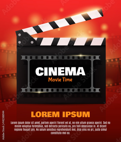 Photo  Online Cinema Background With Movie Reel