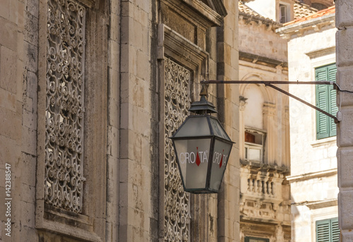 Lantern in Old Town Dubrovnik Poster