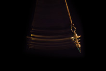 Pendulum Used For Readings And Hypnotism Swinging With Motion Blur