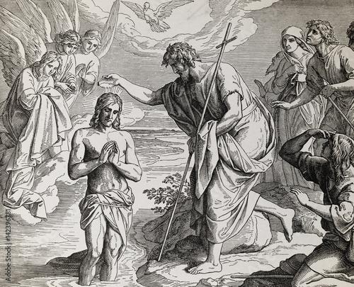 chrzest-jezusa-chrystusa-autorstwa-jana-chrzciciela-graficzny-kolaz-z-grawerow