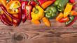 peperoni freschi multicolore
