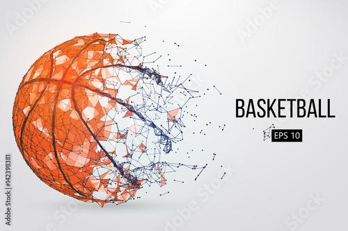 Fotografija  Silhouette of a basketball ball. Vector illustration