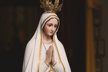 Mother Mary Statue In Catholic...