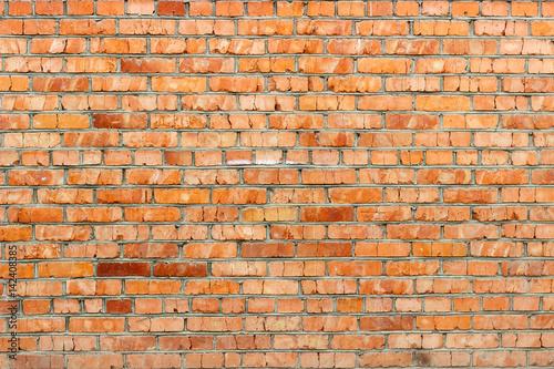 Foto op Canvas Graffiti Red brick wall background