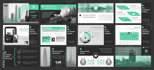 creative set of abstract infographic elements modern presentation