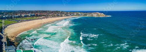 Staande foto Strand Aerial view of Bondi Beach or Bondi Bay at sunny day in Sydney