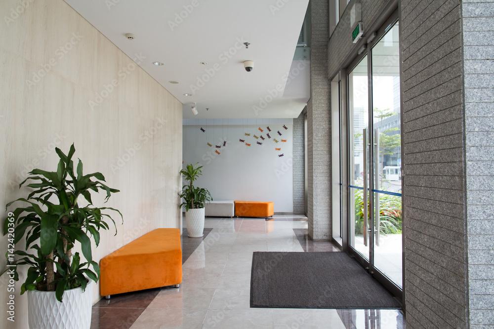 Fototapeta Condominium building entrance