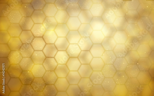 golden beehive background Canvas Print