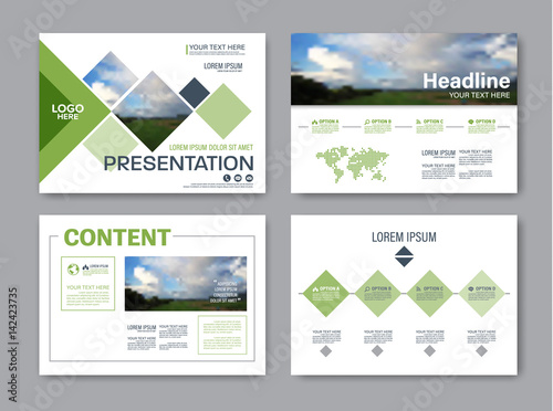 Set Of Presentation Layout Design Template For Powerpoint Annual