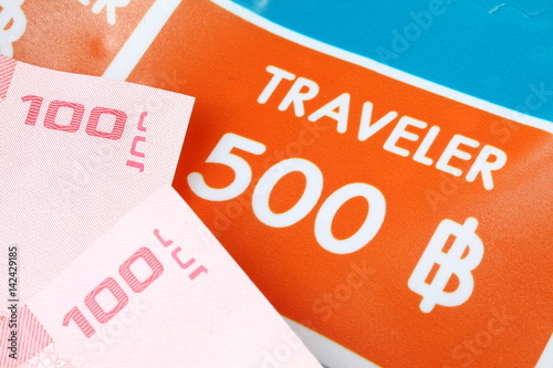 Price guide and Thailand banknote represent the financial and