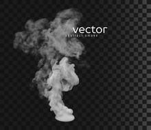 Vector Illustration Of Smoke.