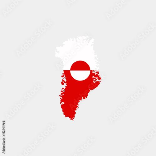 Fotografie, Obraz  Map of Greenland