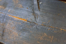 Wood Texture With Blue Flaked Paint