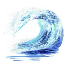 Watercolor Hand Drawn Ocean Fa...
