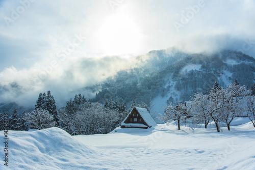 Fototapety, obrazy: 雪の相倉合掌造り集落