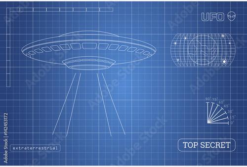 Photo  Blueprint of UFO
