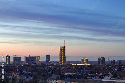 Tela Skyline Stadt Essen