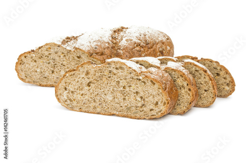 Bread product isolated over a white background