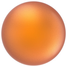 Orange Sphere Round Button Ball Basic Matted Yellow Circle Geometric Shape Solid Figure Simple Minimalistic Atom Single Drop Object Blank Balloon Icon Design Element. 3D Illustration Isolated